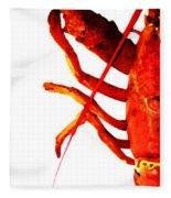 Lobster - The Left Side Fleece Blanket