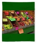 Local Apples For Sale Fleece Blanket