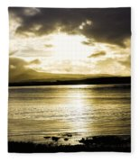 Loch Bracadale Sunset Fleece Blanket