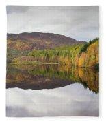 Loch Faskally Autumn Fleece Blanket