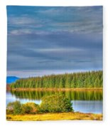 Loch Kinardochy Reflections Fleece Blanket