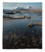 Lochan Nah-achlaise, Rannoch Moor, Scotland Fleece Blanket