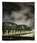 Lock 8 Erie Canal Fleece Blanket
