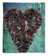Locket Heart-3 Fleece Blanket
