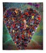 Locket Heart-4 Fleece Blanket