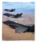 Lockheed Martin F-35 Lightning II Fleece Blanket