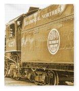 Locomotive And Coal Car Of Yesteryear Fleece Blanket