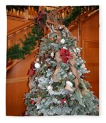 Lodge Lobby Tree Fleece Blanket