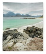 Lofoten Island Beach Scene Fleece Blanket