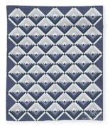 Log Cabin Blues Quilt Fleece Blanket