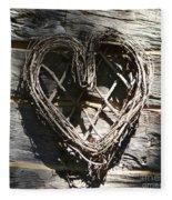 Log Cabin Love Fleece Blanket