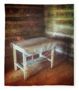 Log Cabin Table Fleece Blanket