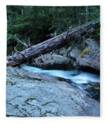 Log Over Deep Creek Fleece Blanket