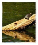 Log Turtle L 3584 Fleece Blanket