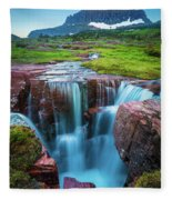 Logan Pass Abyss Fleece Blanket