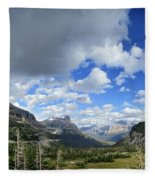 Logan Pass Panorama - Glacier National Park Fleece Blanket
