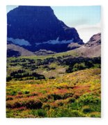 Logans Pass In Glacier National Park Fleece Blanket