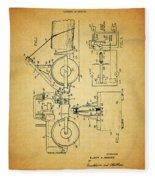 Logging Truck Patent Fleece Blanket