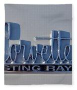Logo Of 1966 Chevrolet Corvette Sting Ray 427 Turbo-jet Fleece Blanket