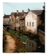 Loire Valley Village Scene Fleece Blanket