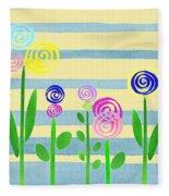 Lollipop Flower Bed Fleece Blanket