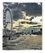 London A View From A Bridge  Fleece Blanket