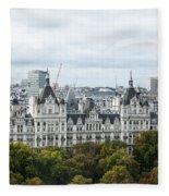 London Along The River Thames Fleece Blanket