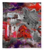 London Art 56 Fleece Blanket
