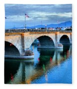 London Bridge At Sunrise Fleece Blanket