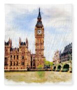 London Calling Fleece Blanket