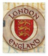 London Coat Of Arms Fleece Blanket