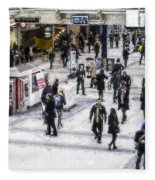 London Commuter Art Fleece Blanket