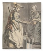 London Cries - A Milkmaid Fleece Blanket
