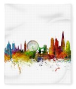 London England Skyline 16x20 Ratio Fleece Blanket