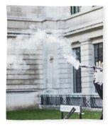 London Explosion 2 Fleece Blanket