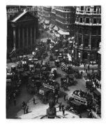 London: Financial District Fleece Blanket