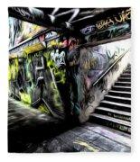 London Graffiti Art Fleece Blanket
