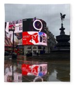 London Piccadilly On A Rainy Day Fleece Blanket