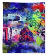 London Portrait  Fleece Blanket