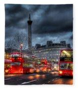 London Red Buses Fleece Blanket