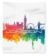 London Skyline City Color Fleece Blanket