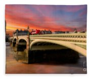 London Sunset Fleece Blanket