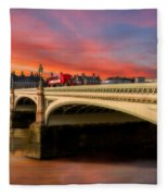 London Sunset Fleece Blanket