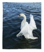 London Swan Fleece Blanket