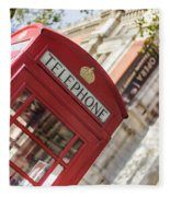 London Telephone 3 Fleece Blanket