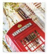 London Telephone 3 Fleece Blanket