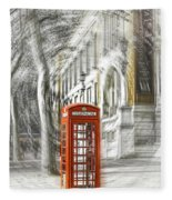 London Telephone C Fleece Blanket