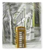 London Telephone Yellow Fleece Blanket