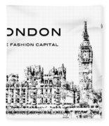 London The Fashion Capital Fleece Blanket by ISAW Company