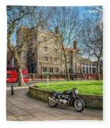 London Transport Fleece Blanket